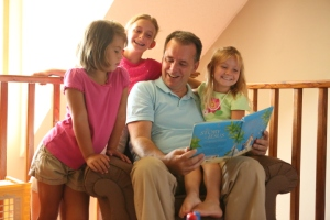 Family book reading