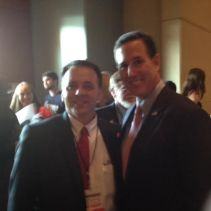 Rick Martin with Pres. Hopeful Rick Santorum